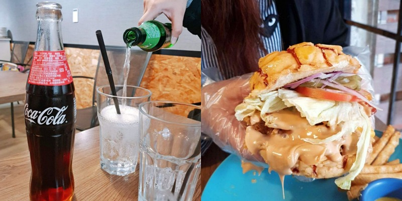 Gatsby蓋子美式餐廳:轟炸視覺滿點美式花生醬菠蘿漢堡配碳酸飲料超正【板橋早午餐】 @女子的休假計劃