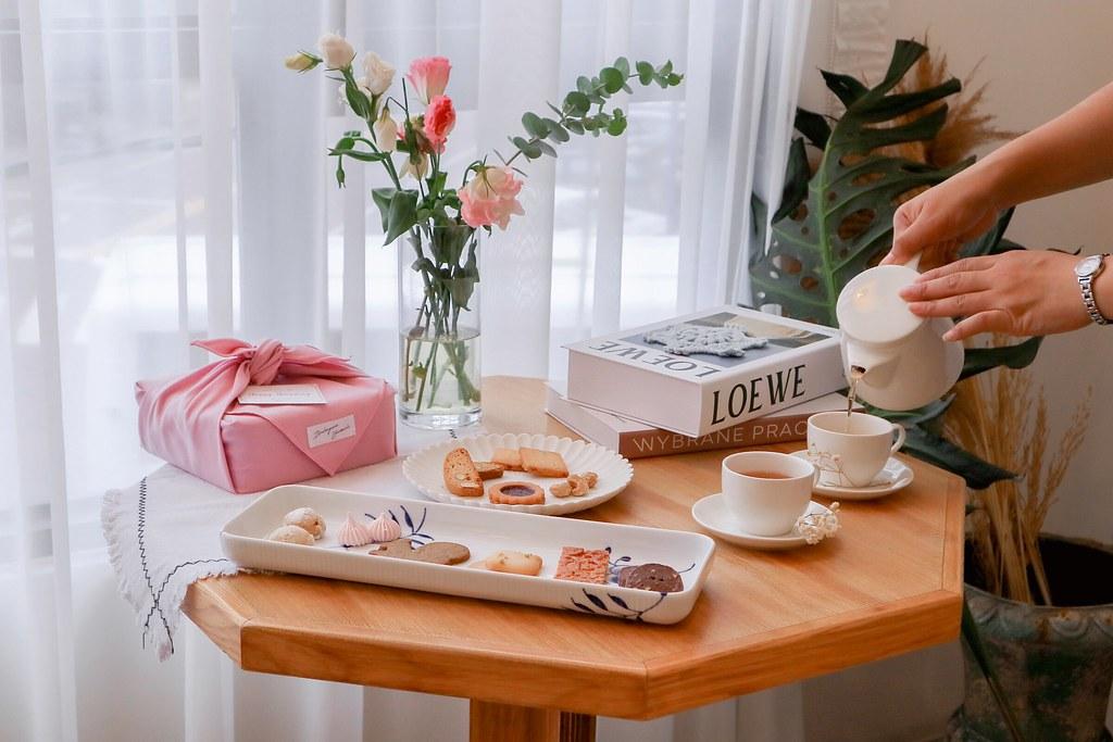 順道パン。風呂敷喜餅専門店:豐原最美麵包店/台中咖啡廳,承載職人手作溫度與傳遞幸福的花嫁禮盒 @女子的休假計劃