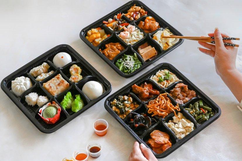 台北福華珍珠坊外帶便當餐盒:每日限量50份!3層裝九宮格27道菜色超豪華! @女子的休假計劃