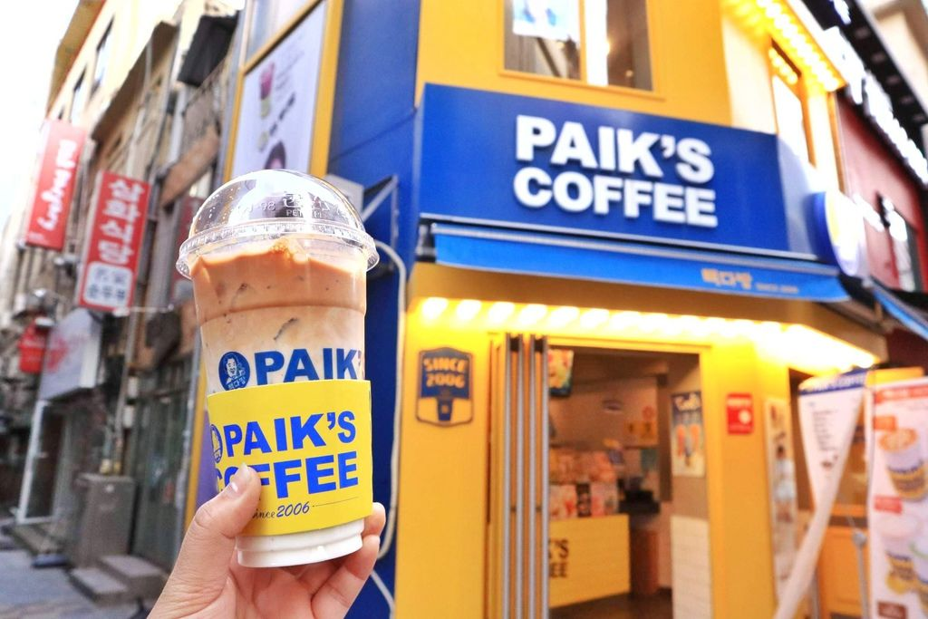 【韓國釜山】韓國白鍾元咖啡PAIK'S Coffee 빽다방,南浦洞、釜山西面平價好喝連鎖咖啡廳 /2018自由行 /Kakao Friends Store粉紅色cafe @女子的休假計劃