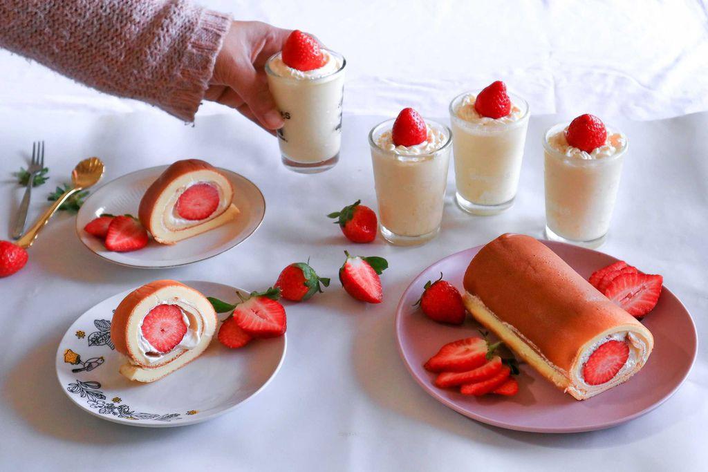 【低碳食譜、低酮甜點】草莓布丁奶酪/草莓生乳捲/巧克力杯子蛋糕/生酮甜點/無麵粉 @女子的休假計劃