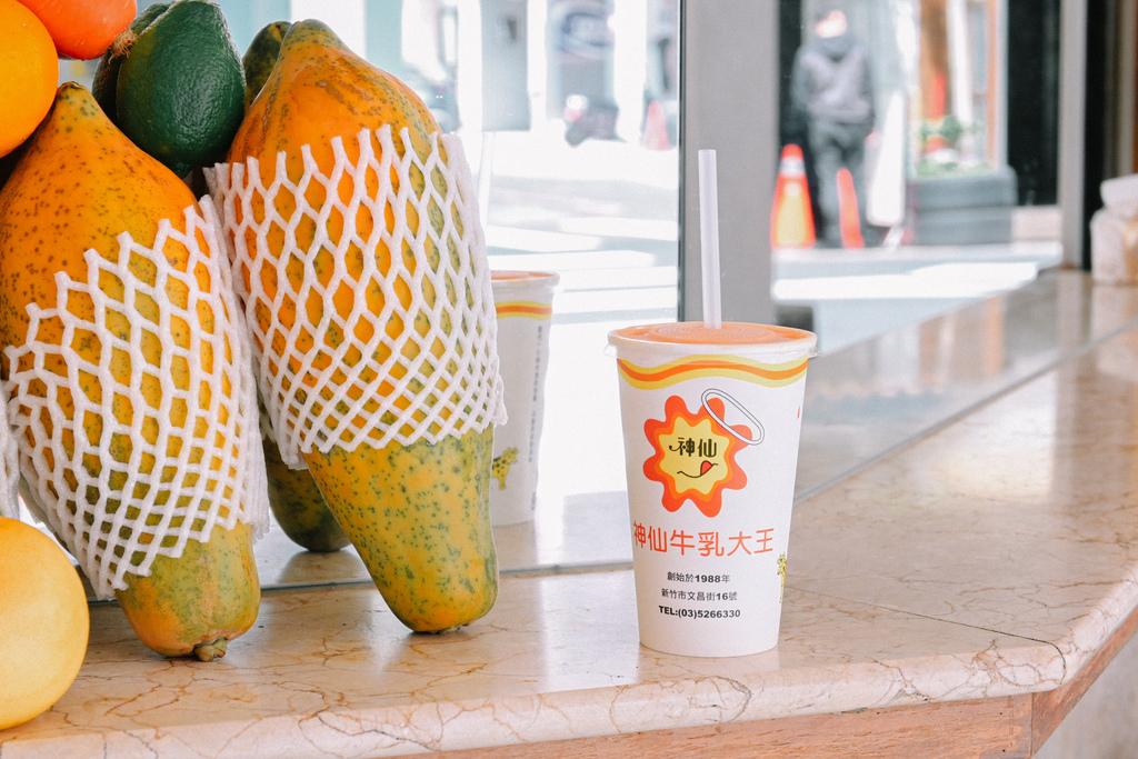 【新竹美食】神仙牛乳大王:新竹最濃稠香甜木瓜牛乳,不止在地人推薦喜歡,觀光客也超愛。 @女子的休假計劃